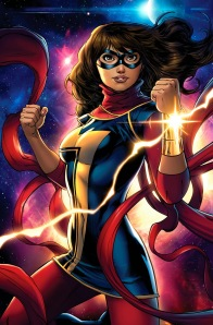 Kamala Khan, the new Ms. Marvel. The new Muslim Ms. Marvel. The new Ms. Muslim Marvel. Did I mention she's Muslim? Also, teen angst. But mostly Muslim.